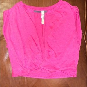 Free People / FP Movement pink cropped tee